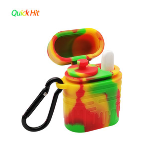 Waxmaid wholesale silicone dugout Quick Hit Ceramic one hitter smoking pipe nice gift box packaging Tobacco Smoking Pipes ship from US
