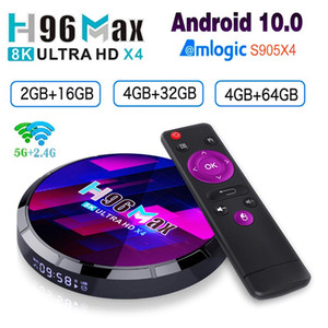 H96 Max X4 S905 4GB RAM 64G Smart TV Box Support Dual Frequency Wifi BT HD 8K 1080p for Tik Tok Media Player Android 10.0 S905X4 Set Top Box