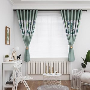 Curtain & Drapes Multipurpose Rural Thermal Insulated Grommet Drape Polyester Leaves Leaf Embroidered For Outdoor