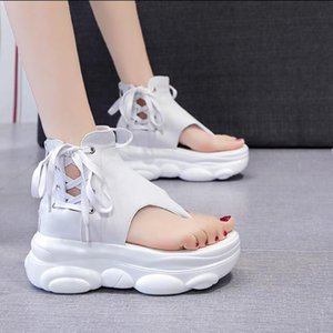 Muffins shoe Clogs With Heel 2021 Summer High Heels Beach Sandal Woman Luxury Comfort Shoes For Women Flip Flops Platform