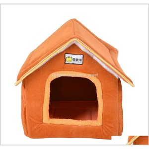 Foldable Pet House Bed Nest With Mat Soft Winter Dog Puppy Sofa Cushion House Kennel Nest Dogs Cat Bed F Jllsyu Ykkwu Mlrzc