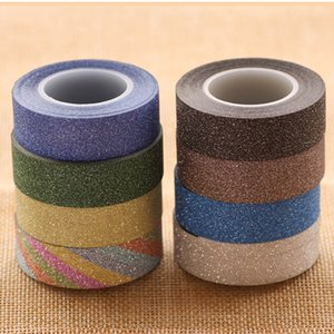 Colourful Flash Powder Adhesive Tapes DIY Sticker Hand Account Decoration Solid Color Paper Stickers Photo Album Journal Decor BH 2016.5068W