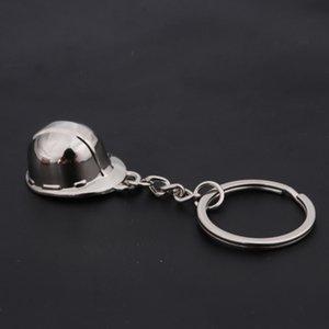 Casco de seguridad de alta calidad Anillo de llavero 3D Hat Hat Cadena Tenedor clave Creativo Portachiavi Llaveros Hombre Bolsa Charm