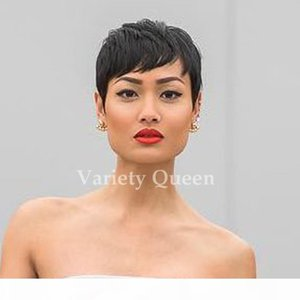 100% Brazilian Virgin Short Pixie Hair Wigs Human Hair Full Lace Front Bob Wig African Hair Cut Style None Lace Wigs