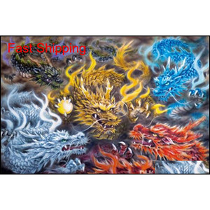 5d Diamond Embroidery Needlework Diy Diamond Painting Cross Stitch Kits Dragons Playing Ball Full Round Diamond Mo qylrAM bdenet