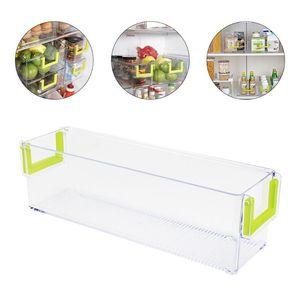 Car Organizer 1pc Transparent Fridge Bin Storage Refrigerator Kitchen Box