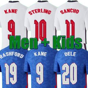 En Tayland Kalite Tay Futbol Forması 2020 Kane Sterling Rashford Lingard VARDY 20 21 Ulusal Futbol Gömlek Erkekler + Çocuk Kiti Üniforma