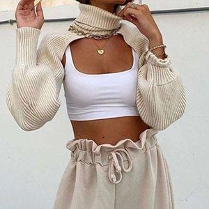 Personalidade de moda do Blogger Super Super Curta Camisola Sexy High Neck Aberto T-shirt Branco