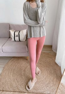 Body sculpting winter velvet 2020 new German autumn underpants, outside, and women wear one-piece warm pants inside O