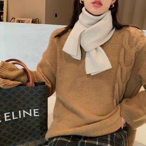 Auto retenue coréenne foulard de la cire ci circée de femme coiffe de la couleur pure couleur pure laine polyvalente
