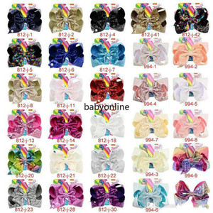 8 Inch Jojo Siwa Hair Bows Jojo Bows With Clip For Baby Children Large Sequin Bow Unicorn hair Bows FY4294