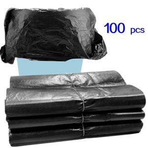 (596x03) 100 pz Borse per rifiuti domestici non perdite 43x45cm Borse di rifiuto Monouso BAG BASSH PLASTIC