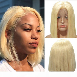 Short BOB malaysian Blonde Lace Front Human Hair Wigs For Black Women 613 Straight Full Lace Wigs hd Transparent Lace Wig