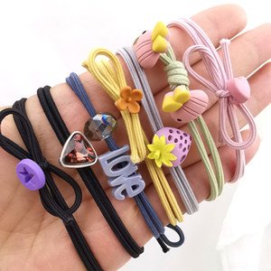 Wholesale Cute Plant Hair Ring Cartoon Hair Bands headwear Girl Rubber Band Elastic Hair Bands Children Accessories Yao