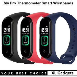 M4 Pro Smart Watch Band Fitness Bracelet Sports Body Temperature Reference Wristband Heart Rate Monitor Tracker for IOS Andriod
