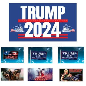 Trump 2024 Flag US President Election Flag Campaign Banner Digital Printing Support Banner Flag Garden Yard Background Flags