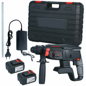 NEW!! 21V Brushless Heavy Duty Electric Rotary Hammer Drill SDS Plus Battery Box Kit
