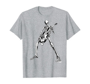 skeleton playing guitar electric Acoustic Classical music T-Shirt