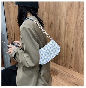 Small Plaid Chains Free Women's bag Ladies Handbag Baguette Ladiy