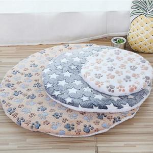لينة كلب حصيرة قابل للغسل جولة pet بطانية سرير مزدوج الدافئ سرير النوم طباعة القطن ميكانيكية غسل المرجان الصوف القدم