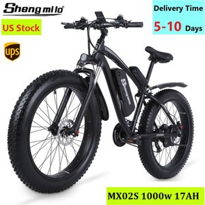 Azioni USA SHENGMILO MX02S Electric 1000 W Mountain bike 17ah 48 V Li-ion City Pneumatici grassi Bicicletta E-Bike Beach Cruise Unisex