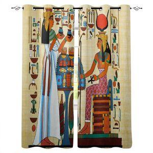 Curtain & Drapes Ancient Egyptian Room Curtains Large Window Dark Bathroom Outdoor Bedroom Decor Kids
