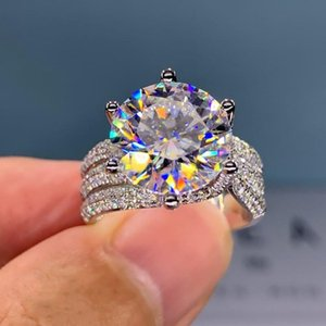 Wedding Rings Luxury Women's Crystal With Brilliant Cubic Zirconia Bling Engagement Trendy Women Jewelry Wholesale