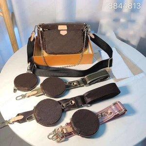 2021 New Female Bags Combination Mahjong Bag Portable Chain Broadband Three-piece Small Cases