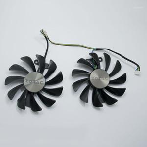 New 95MM GFM10012H12SPA GAA8S2U Cooler Fan Replace For ZOTAC GTX 1070 1080 AMP ED 8GB GTX1080 Graphics Video Card Cooling Fans1