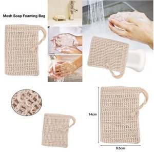 Natural Exfoliating Mesh Soap Saver Sisal Soap Saver Bag Pouch Holder For Shower Bath Foaming And Drying WY1184