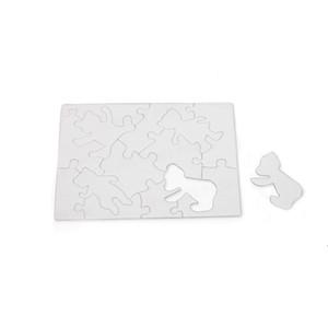 Leerer farbstoff Sublimation Puzzle Kind Erwachsene Persönlichkeit DIY Wärmeübertragung Puzzles Customized A3 A4 A5 Party Geschenke Papier Ahd5342