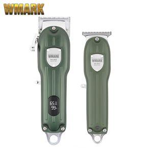 2021 Şarj 2 in 1 Set All-Metal Kablolu veya Akülü Kullanım Saç Kesme ve Detaylandırıcı Giyotin Seti Seti Premium Hediye Kutusu Ambalaj 210302