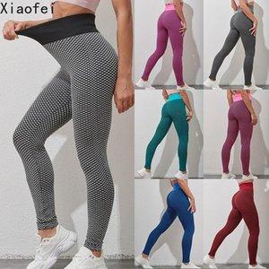 Sexy Women Push Up Mesh High Waist Yoga Pants Fitness Hip Jogging Running Pants