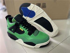 طبعة محدودة jumpman 4 4 ثانية أحذية رجالي كرة السلة مانيلا الأخضر الأفعى اللون مطابقة الرياضة رباط الحذاء مربع حذاء كامل الحجم 40-47.5