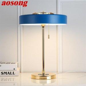 Aosong Contemporary Lumury Table Design E14 Desk Lampada Desk Home Led Decorative per foyer soggiorno camera da letto ufficio