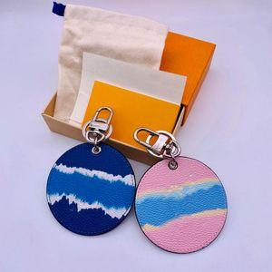 Cuir Keychain 2021 Mode Designer Carte de voiture Bague porte-clés de portefeuille mignon sacs à portefeuille Pendentif Boucle de chaîne à clé pour hommes Femmes
