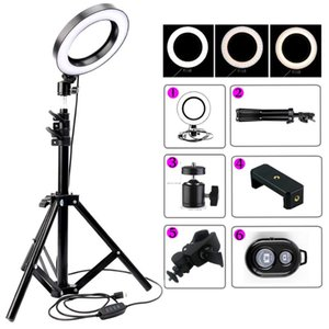 with LED Ring Stand Selfie Photographic Ring Lighting Light Makeup Studio inch 6 Fill Youtube for Phone Lamp Tripod Video 16cm Nsiba