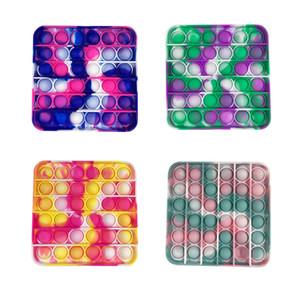 Neues Design Bunte quadratische Muster knallt es zappeln spielzeug antistress spielzeug für erwachsene kinder drücken pop blase zappeln sensory spielzeug mit freiem dhl