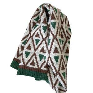 Kids Scarves Children Scarf Baby Ring Boys Girls Accessories Autumn Winter Keep Warm Knitted Wool Soft Vintage Plaid B8964