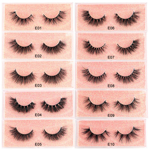 Free customization of private and exquisite creative 22MM 5D mink false eyelashes box label and lash case LOGO,E SERIES