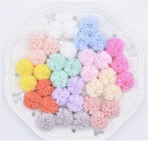 50pcs lot 20mm Colorful Elastic Mesh Flower Ball For Sewing On Scarf Shoes Hats Fur Diy Headwear Hair Clip Bow Acc qylRqU
