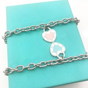 Luxury heart bracelet woman chain on hand stainless steel fashion jewelry Valentines day Christmas gifts for girlfriend accessories wholesale lot size
