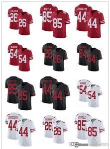 Uomini donne giovanili.San Francisco49ers.Jersey 85 George Kittle 54 Fred Warner 44 Kyle Juszczyk 26 Tevins Coleman Jersey da calcio