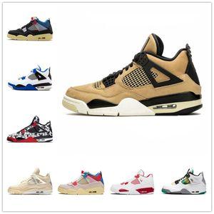 Air Jordan 4 retro jordans Sale 4 4S Chaussures de basketball Hommes Jumpman Femmes Nouvelle crème Voile Le ciment blanc Bred Court violet Union La Guva glace Rasta