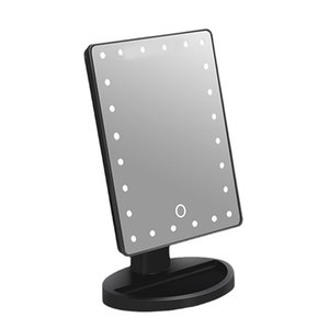 New 180 Degrees Rotation Makeup Mirror Adjustable 24 Leds Lighted LED Touch Screen Portable Cosmetic Mirrors