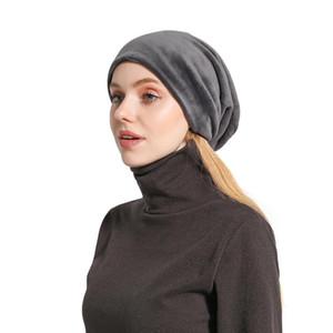 Cappello pullover Peluche da uomo e da donna in solido Colore Solido Pannelli Skullies Berretti Casual India Musulmani Fashion Cap Inverno Berretti caldi # 4
