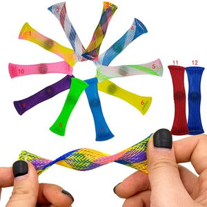 DHL Free Marble Mesh Fidget Toy Tube for Adults Kids in School ADHD ADD OCD Anxiety Fidget Toys Marble and Mesh Finger Hand Fidgets CJ05