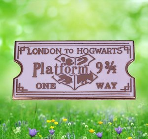 Pins, Brooches HP Harry Wizarding World Platform 9 3 4 London Express Train Ticket Enamel Pin Witch Wizard Accessory Brooch Jewelry