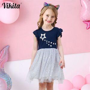 VIKITA Girls Princess Dress Kids Unicorn Dresses for Girls Children Sequins Dresses Toddlers Tutu Dress Girl Summer Vestidos 210303