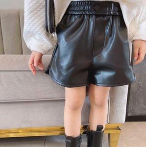 Shorts 2021 Arrival Girls Boys PU Leather Autumn Winter Fashion Cotton Kids 3-8 Years QA301